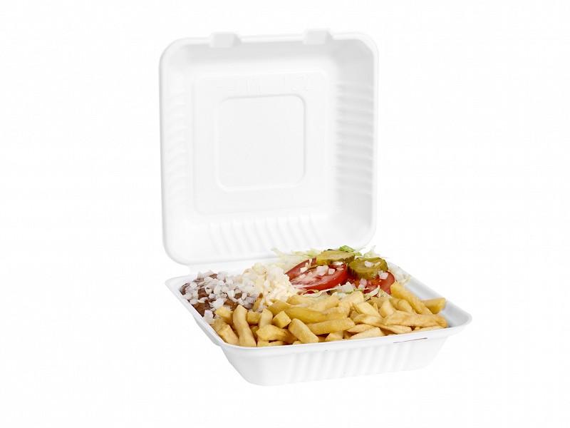 313.0009 - Suikerriet menuboxen 3 vaks 22,8 x 22,8 x 7,6 cm