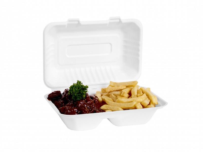 313.0011 - Suikerriet menuboxen 2 vaks 24,5 x 16,3 x 6,5 cm