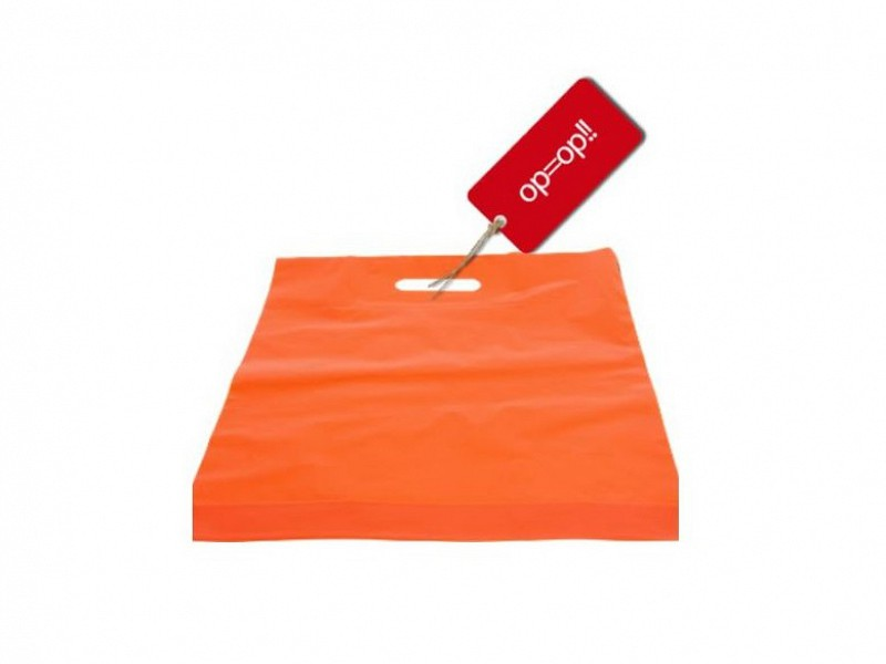 5508 - Plastic draagtassen Oranje