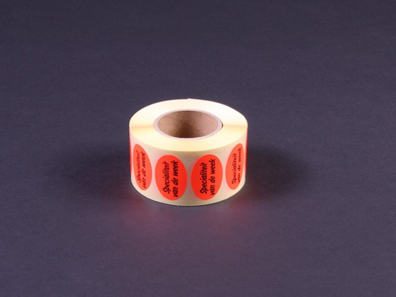 770909 - Fluoriserende rode etiketten