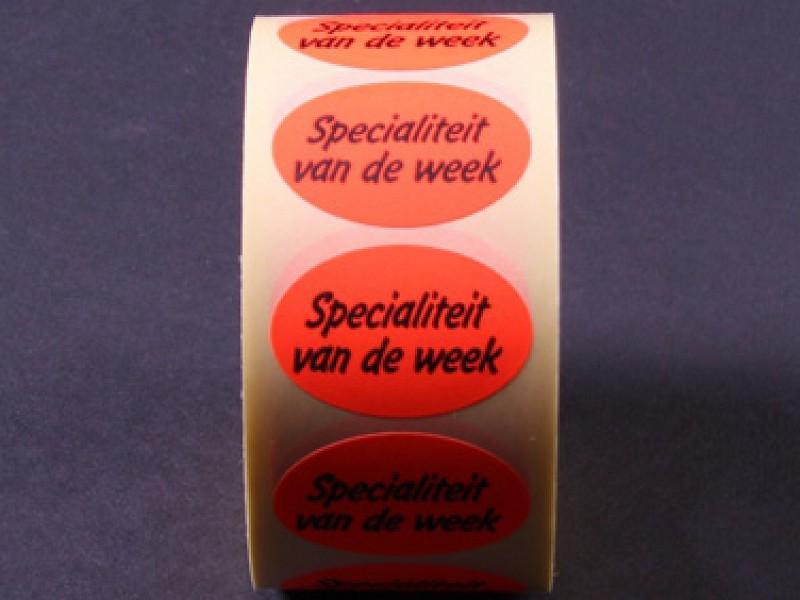 770909 - Etiketten Specialiteit van de week
