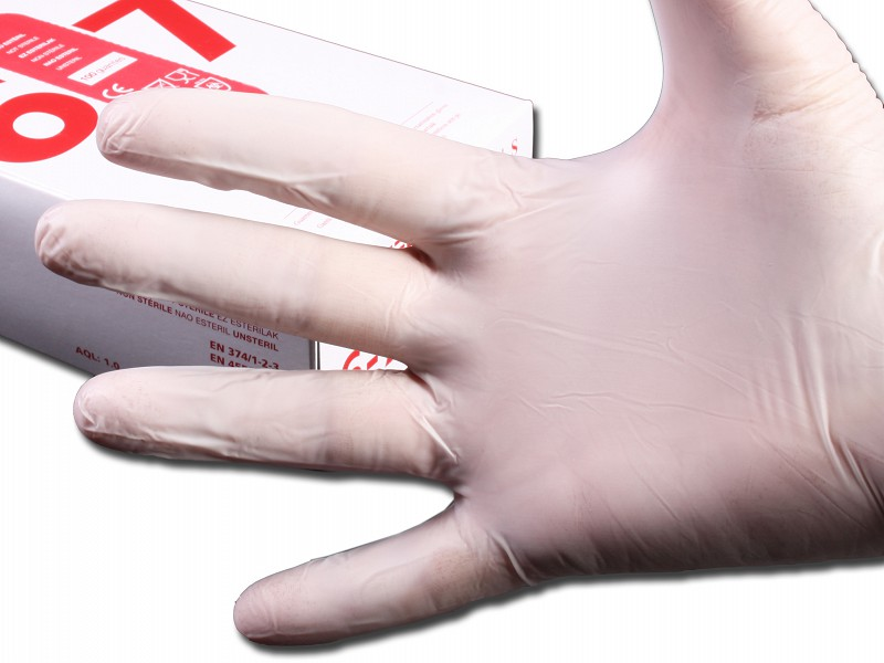 11011OGP - Latex Handschoen XS Wit Poedervrij