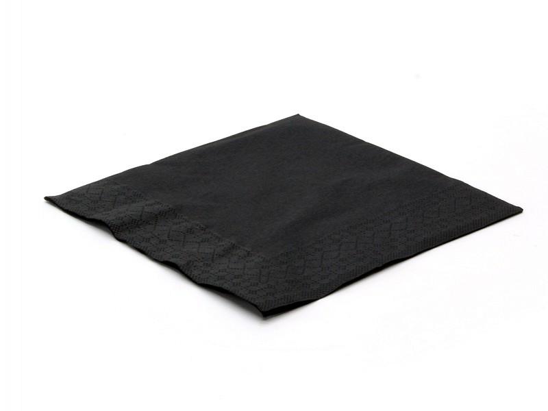9916218 - Servetten 33 x 33 cm zwart