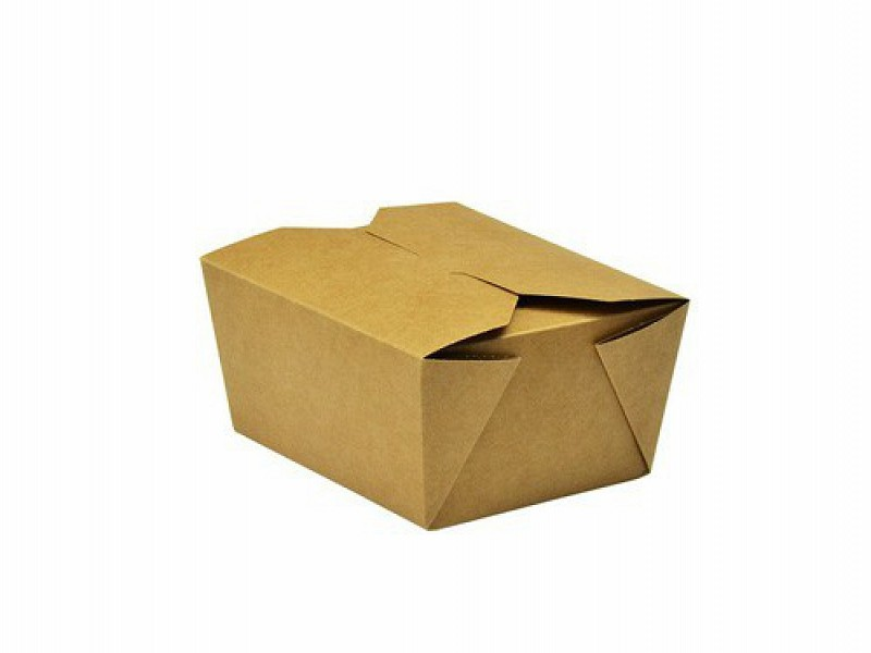 KRB1669 - Kartonnen Take Away BioBox 700 ml Kraft