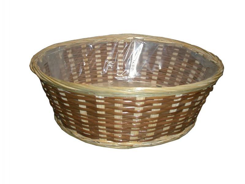 VB8173 - Bamboe schalen met plastic Ø 30 cm