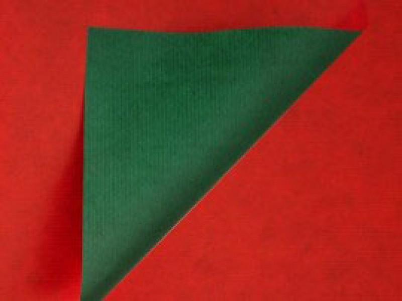 KP990.30 - Geschenkpapier op rol 30 cm duo Rood/Groen