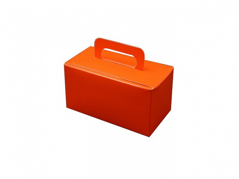 D400498 - OP = OP Bonbondoosjes met handgreep Oranje 500 gram