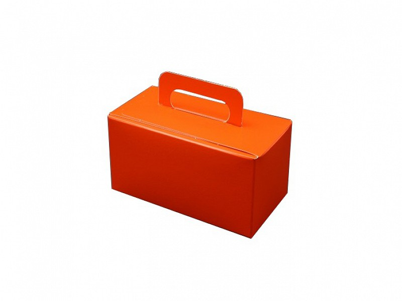D400493 - Oranje bonbondoosjes 250 gram met handgreep