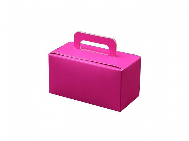 D400494 - Roze bonbondoosjes 250 gram met handgreep