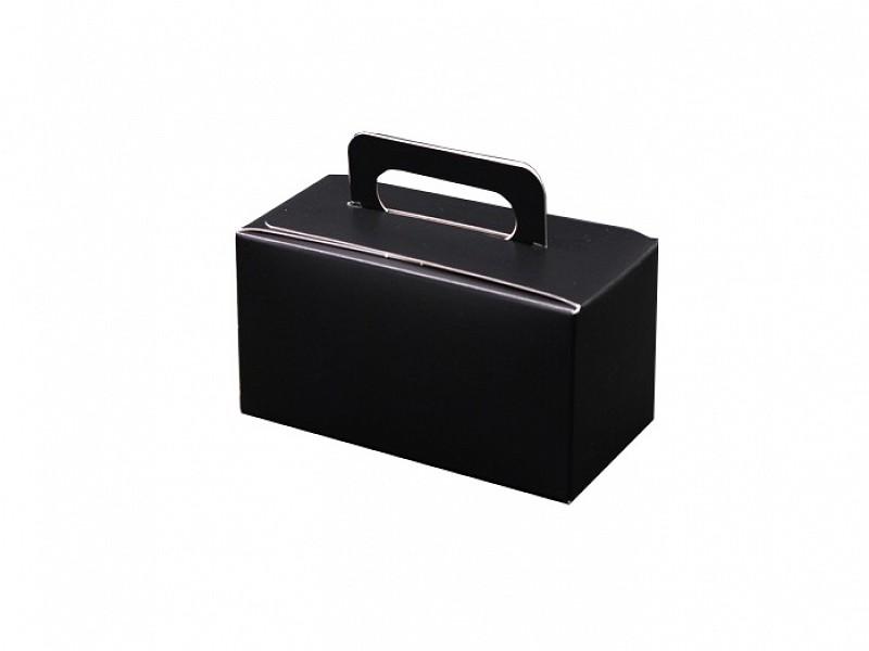 D400490 - Zwarte bonbondoosjes 250 gram met handgreep