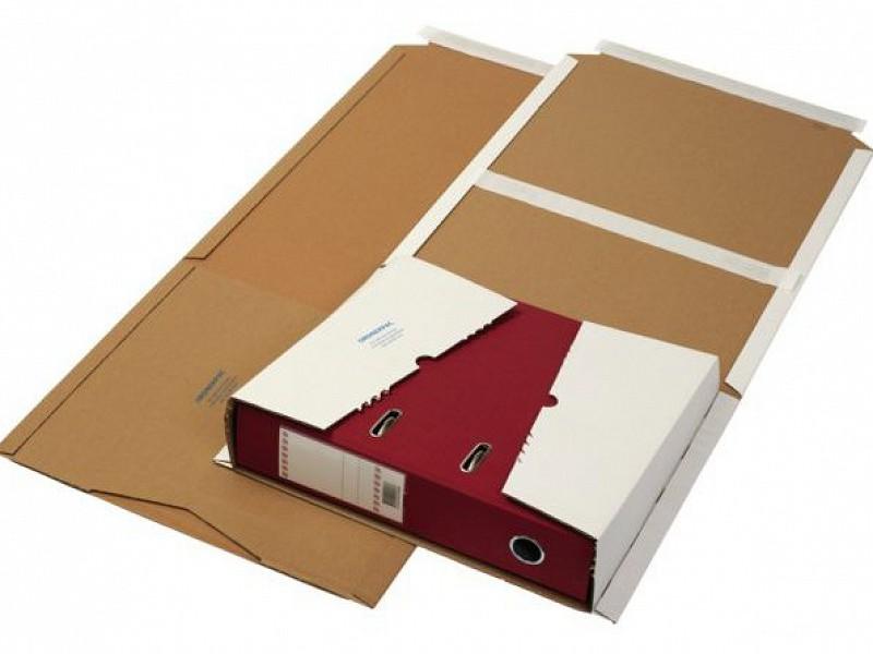 BVS362 - Boekverpakking wit 32,5 x 25cm + plakstrip