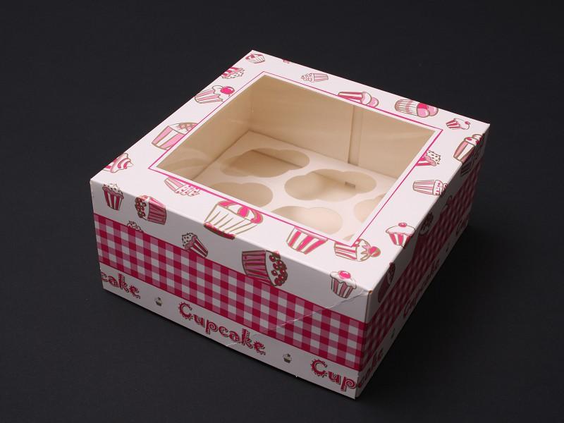 CUP607C9M - Mini Cupcake vensterdoos 17 x 17 x 8 cm