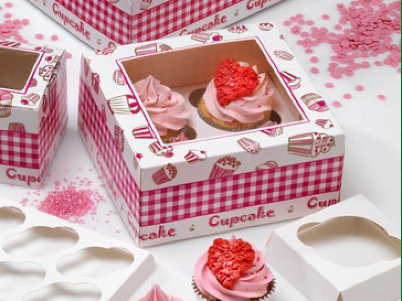 CUP607C4 - Cupcake vensterdoos 17 x 17 x 8 cm