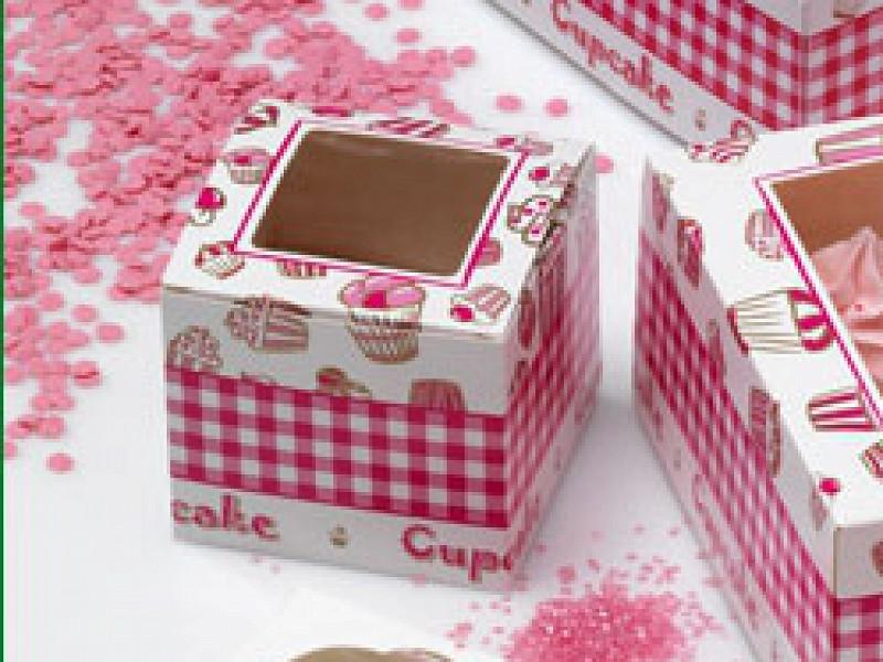 CUP607C1 - Cupcake vensterdoos 9 x 9 x 8 cm