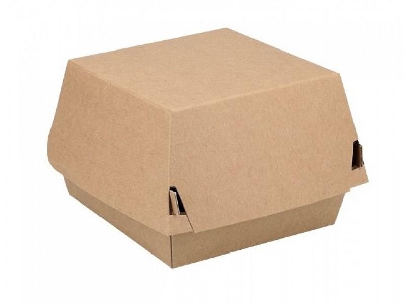 ECO19 - Kartonnen hamburgerboxen 14,5 x 14,5 x 8 cm