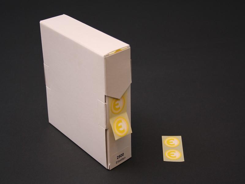 740909 - Etiketten geel met €€-teken