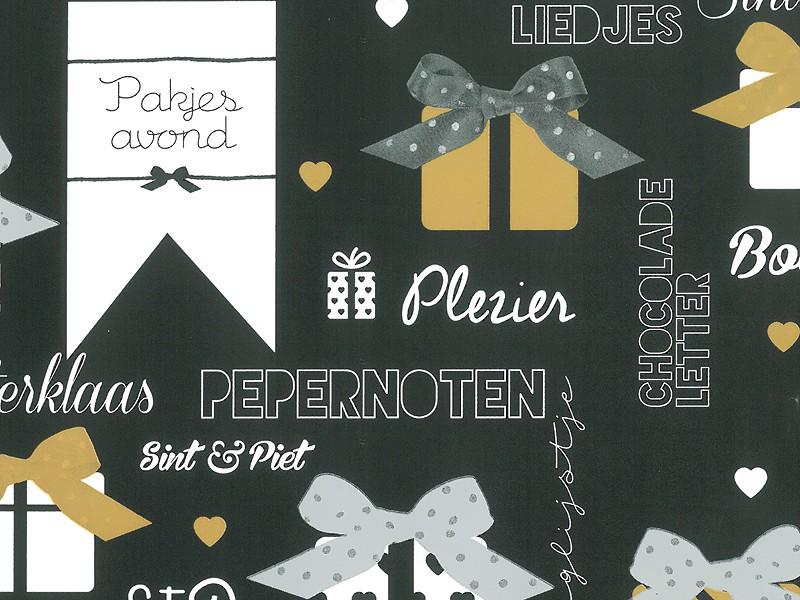 KP90039.30 - Geschenkpapier op rol 30 cm Sint