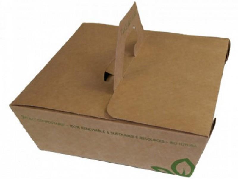 KRBX135 - Take Away box 1350 ml kraft karton met handvat