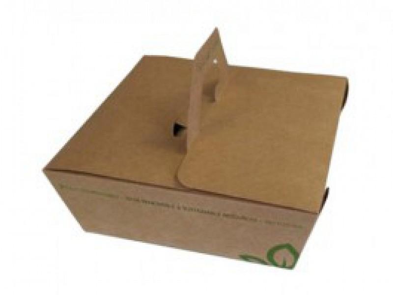 KRBX850 - Take Away box 850 ml kraft karton met handvat
