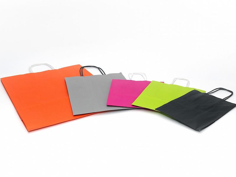 D400471 - Papieren draagtassen 23 + 10 x 29,5 cm grijs
