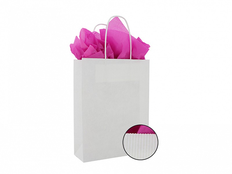 F0035 - Witte papieren tas met gedraaide handgreep
