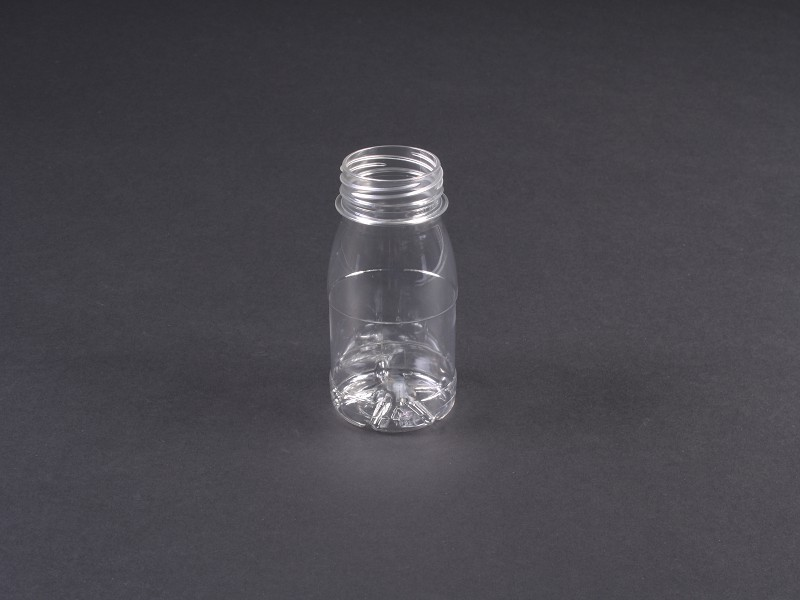PF125 - PET fles 125 ml transparant glad Valencia