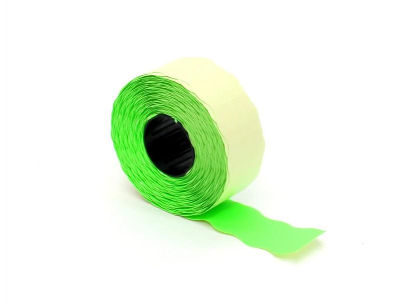 Q842.716 - Prijsetiket 26 x 16 mm fluor groen permanent