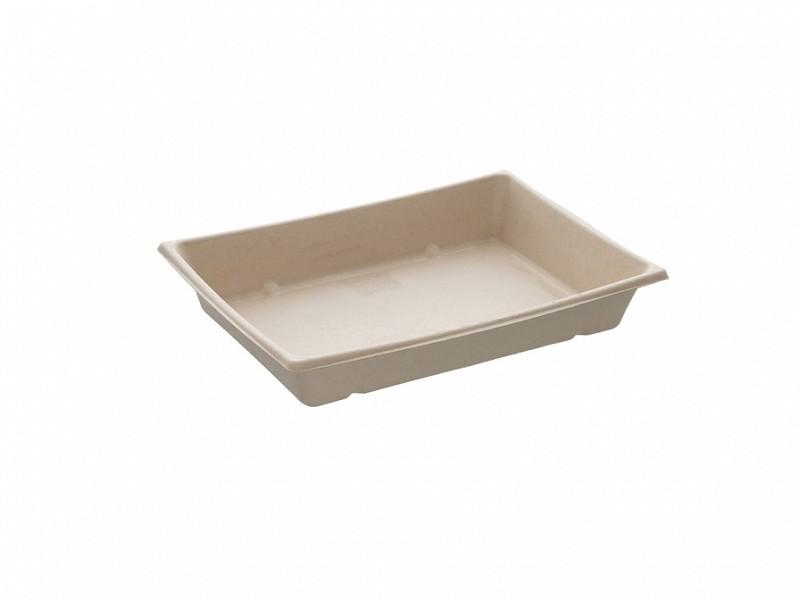 PUL1622024 - Bepulp trays 22 x 16 x 3 cm Pagoda platter