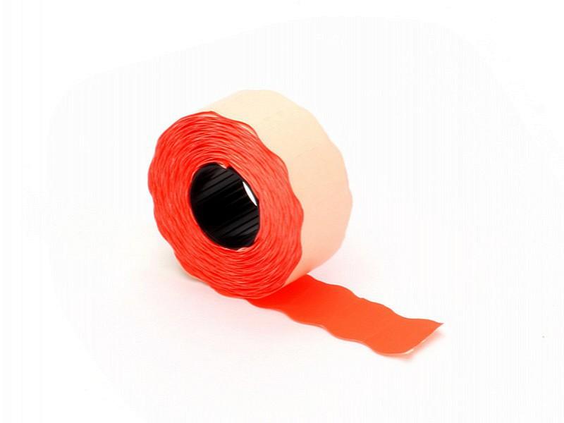 Q842.615 - Prijsetiket 26 x 12 mm fluor rood permanent