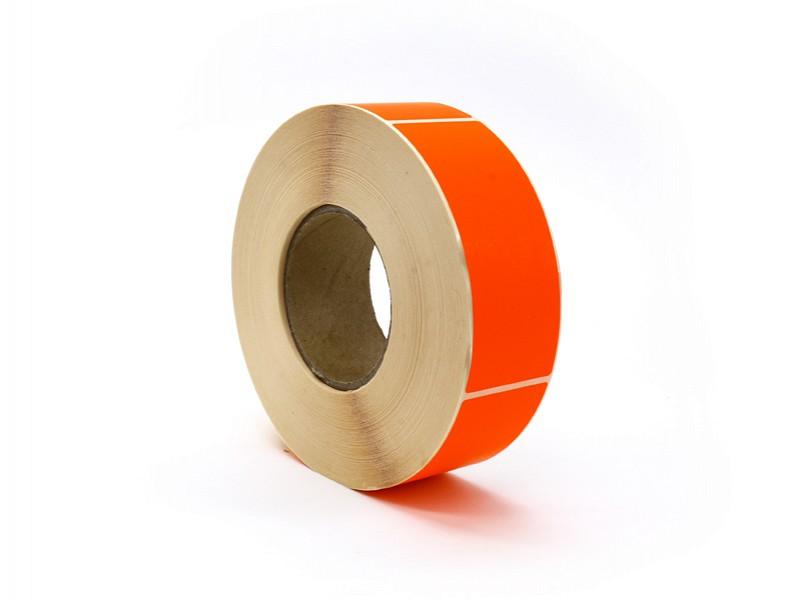 Q881.211 - Rol à 1000 etiket 50 x 127 mm FLUOR rood permanent