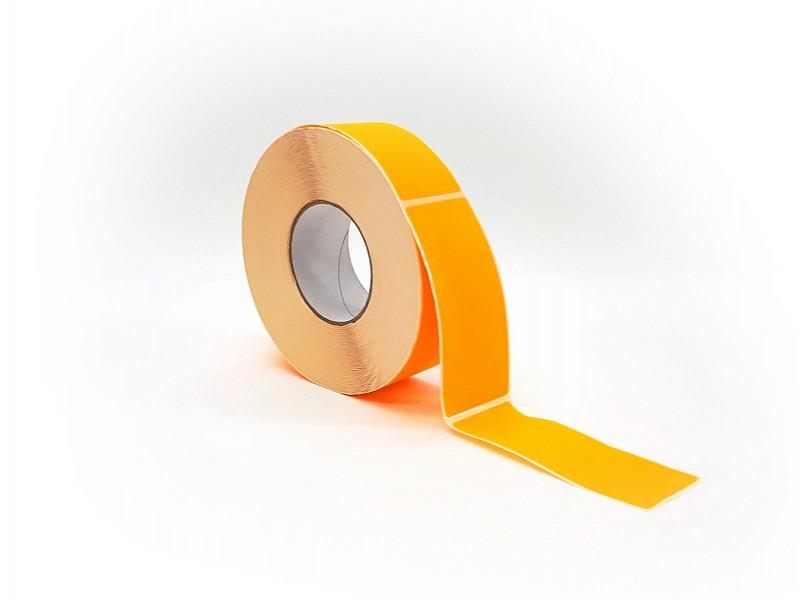 Q881.213 - Rol à 1000 etiket 50 x 127 mm FLUOR oranje permanent