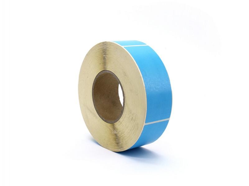 Q881.214 - Rol à 1000 etiket 50 x 127 mm blauw permanent