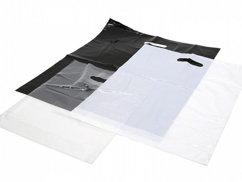 D210105 - Plastic draagtassen 37 x 44 cm Transparant