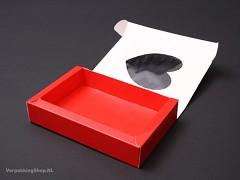 HART1 - Vouwdoosje 13,5 x 21 x 3,5 cm Rood Hart