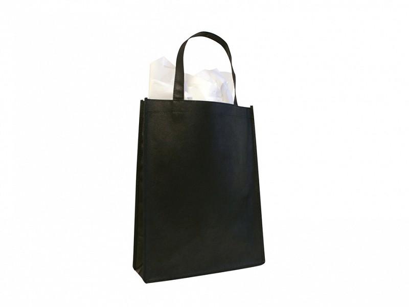 F0323 - Non woven draagtassen Zwart