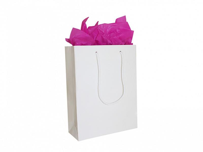 F0118 - Papieren draagtassen 40 x 35 cm Wit Katoenen Koord